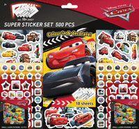 SUPER SET DE 500 PEGATINAS CARS2