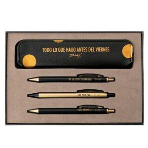 SET DE ESCRITURA BLACK&GOLD - TODO LO QUE HAGO ANTES DEL VI
