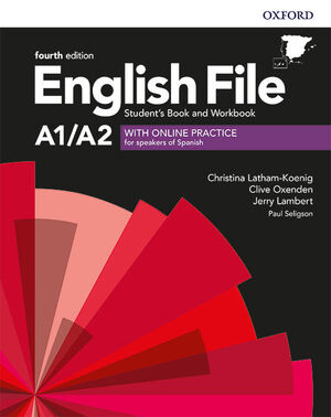 ENGLISH FILE 4TH EDITION A1/A2. STUDENT'S BOOK AND WORKBOOK WITH KEY PACK