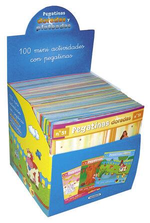 100 MINIACTIVIDADES CON PEGATINAS DORADAS (50 TÍTULOS)