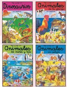 PEGO Y JUEGO CON ANIMALES (4 TÍTULOS)