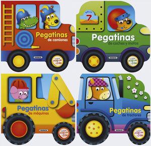 CONSTRUYE VEHÍCULOS CON PEGATINAS DE VINILO (4 TÍTULOS)