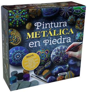 PINTURA METALICA EN PIEDRA