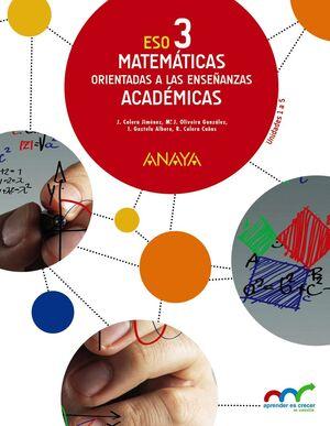 MATEMÁTICAS ORIENTADAS A LAS ENSEÑANZAS ACADÉMICAS 3. TRIMESTRES.