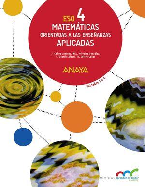 MATEMÁTICAS ORIENTADAS A LAS ENSEÑANZAS APLICADAS 4. (TRIMESTRES)